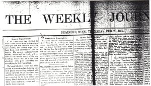 Weekly Journal News Feb 1895.