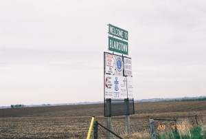 Blairstown, Iowa Sign